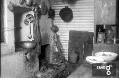 Cucina di una baracca
