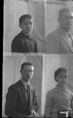 Persone. [Dall'alto : Gaetano Sansone, Eduardo Sansone, xx, Rita Sansone - padre e figli. Su indicazione di Antonino Gallotta]