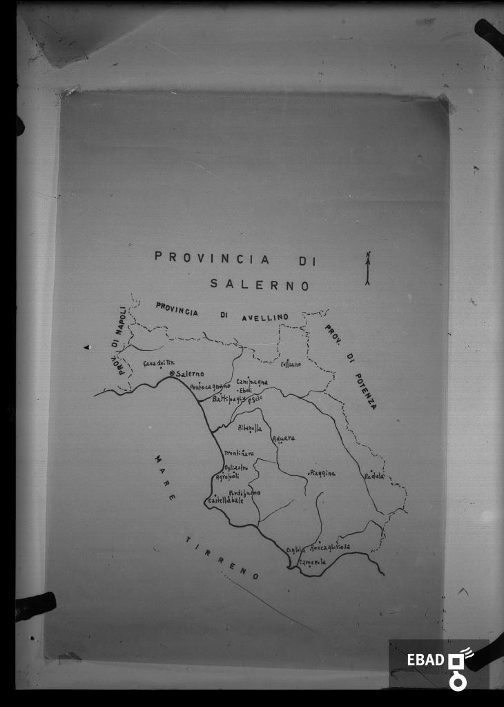 Provincia Di Napoli Cartina.Archivio Fotografico Scheda N 3028 Cartina Geografica Della Provincia Di Salerno
